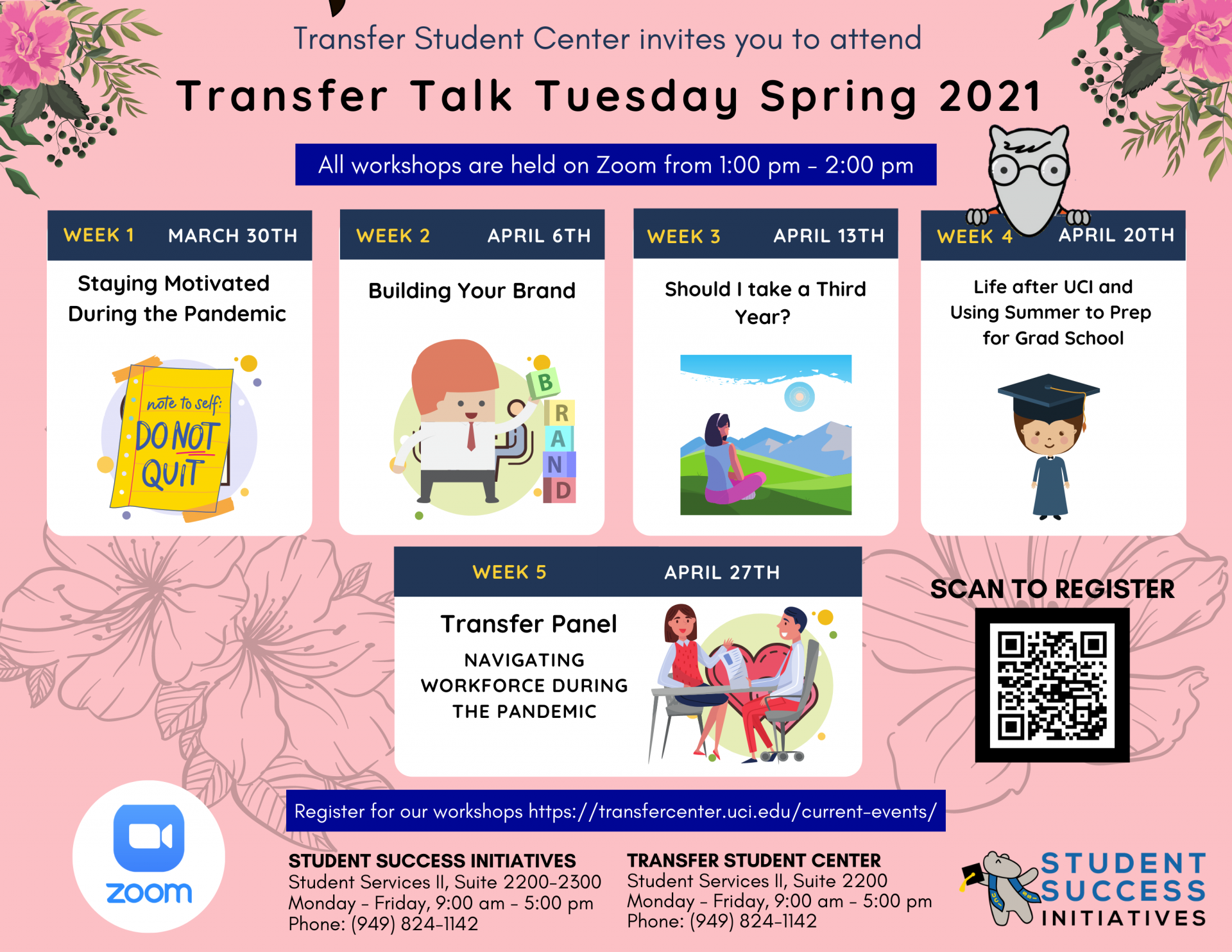 Transfer Talk Tuesday Spring 2021 Events