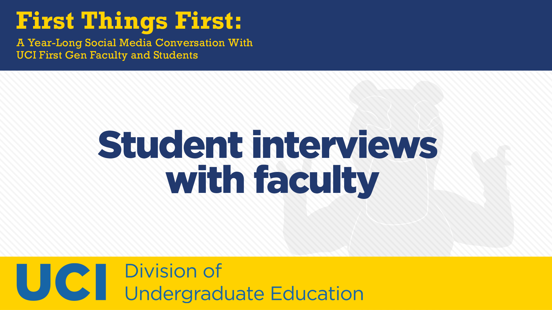 Winter 2021 End-of-Quarter Student Interviews with Faculty
